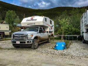 Campsite auf dem Goldrush Campground