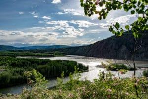 Zusammenfluss von Klondike und Yukon River bei Dawson City