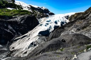 Fuß des Exit Glacier in Alaska