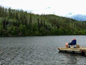 Pause am Five Mile Lake