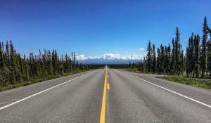 Ansicht des Glenn Highway