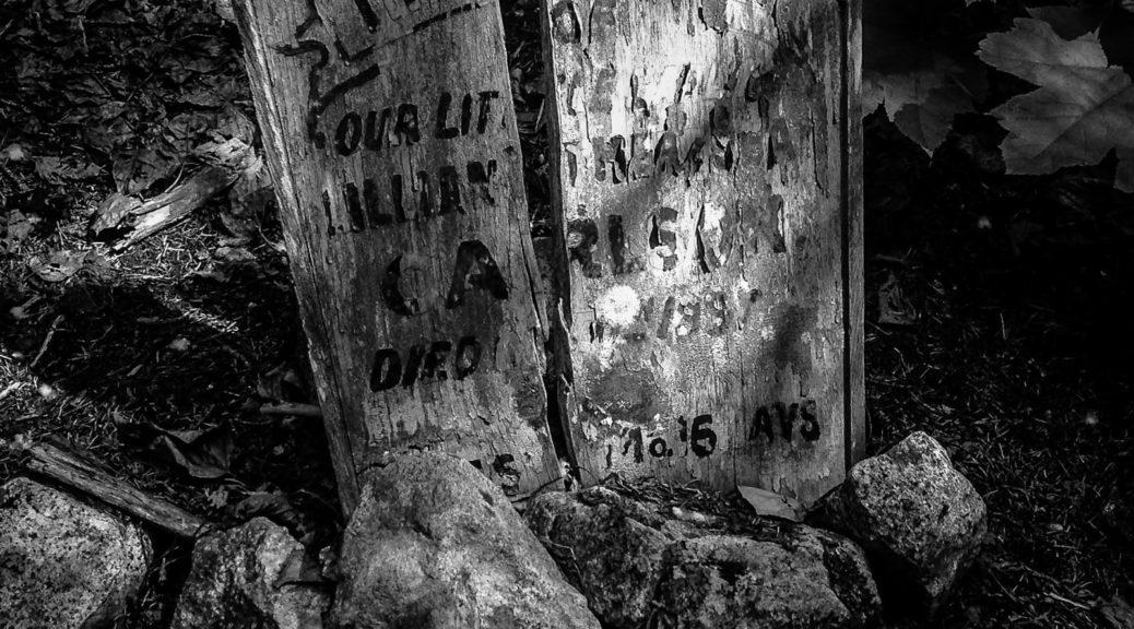 Grabstein auf dem Goldrush Cemetary in Skagway