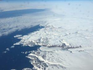 Grönland, vom Flugzeug aus gesehen