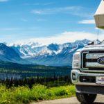 Truck Camper am Glacier View am Glenn Highway