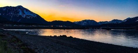 Mitternachtssonne in Seward, Alaska