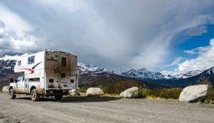 Truck Camper am Dempster Highway