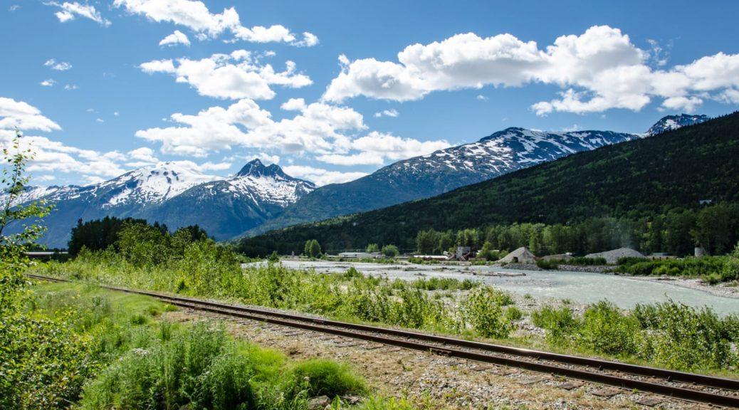 Der Beginn der Bahnstrecke Skagway–White Pass